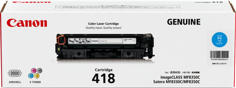 Canon CART418 Cyan Toner - 2,900 Pages - Out Of Ink