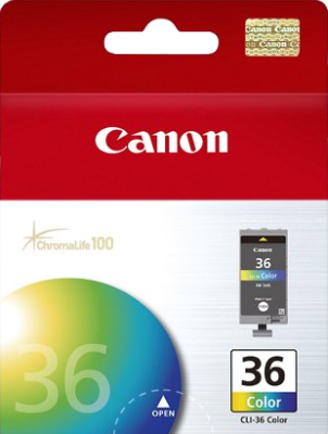 Canon CLI36C Four Colour Ink Tank - 109 pages - Out Of Ink