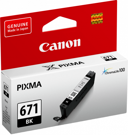Canon CLI671 Black Ink Cart - Out Of Ink