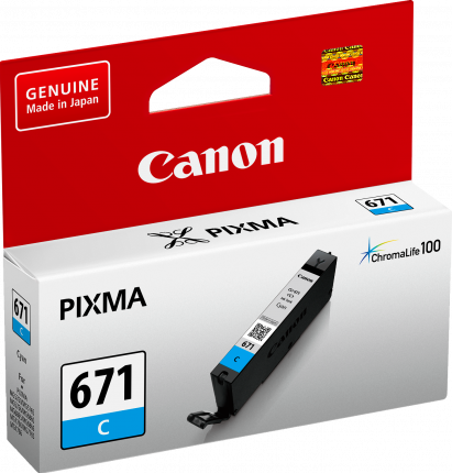 Canon CLI671 Cyan Ink Cart - Out Of Ink