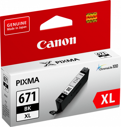 Canon CLI671XL Black Ink Cart - Out Of Ink