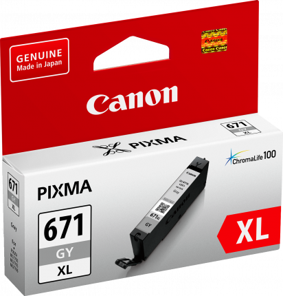 Canon CLI671XL Grey Ink Cart - Out Of Ink