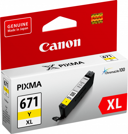 Canon CLI671XL Yellow Ink Cart - Out Of Ink
