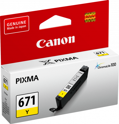 Canon CLI671 Yellow Ink Cart - Out Of Ink