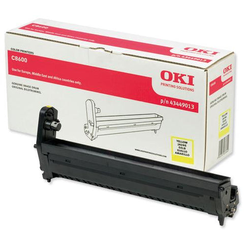 Oki C8600 Yellow Drum Unit - Out Of Ink