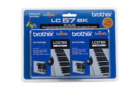 Brother LC-57BK Black Ink Cartridge (Twin pack) - Out Of Ink