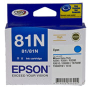 Epson T1112 (81N) Cyan Ink Cartridge (replaces T0812) - 805 pages - Out Of Ink