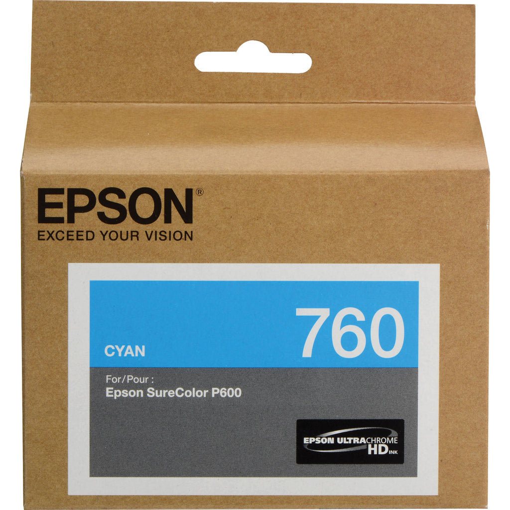 Epson T760 Cyan Ink Cart - Out Of Ink
