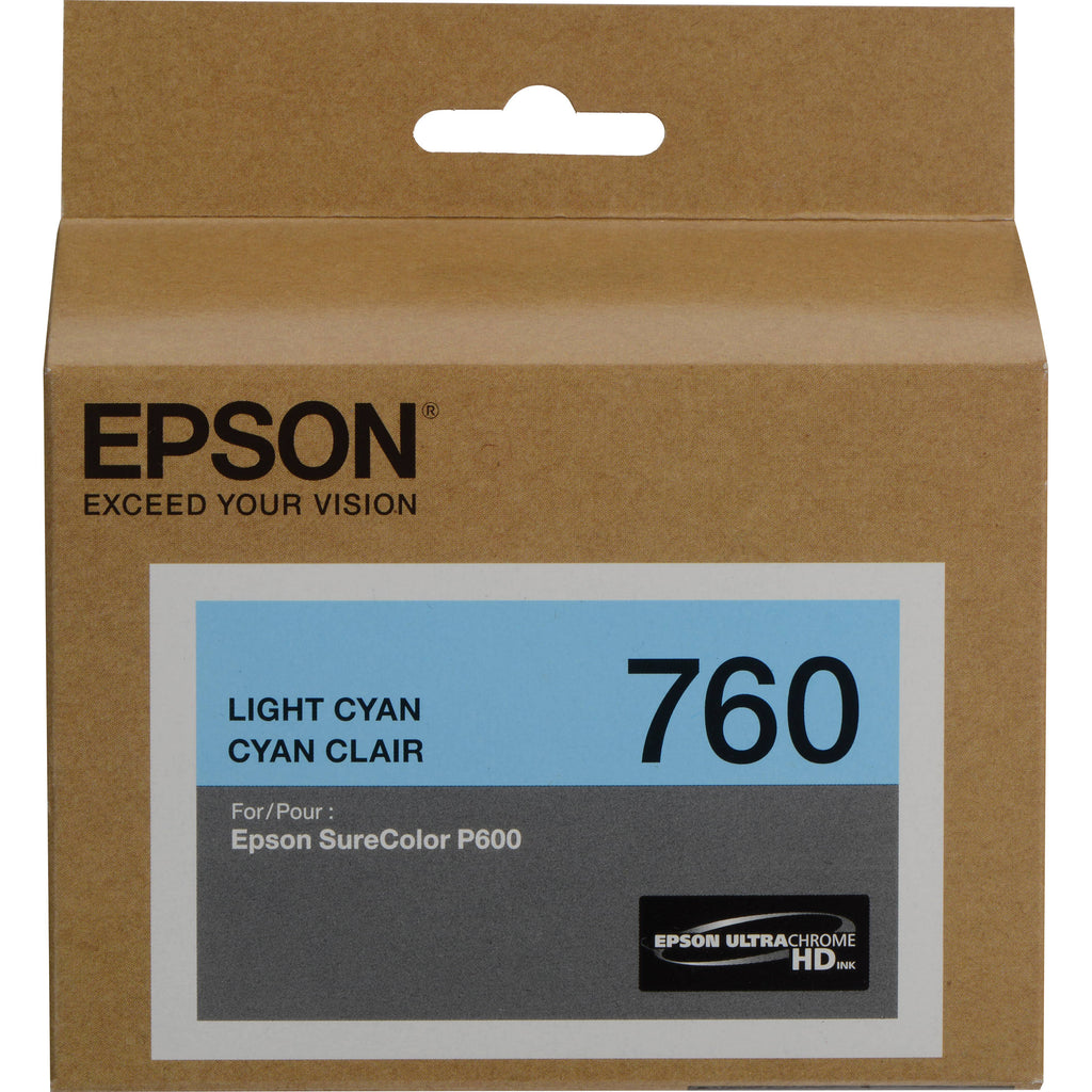 Epson T760 Lgt Cyan Ink Cart - Out Of Ink