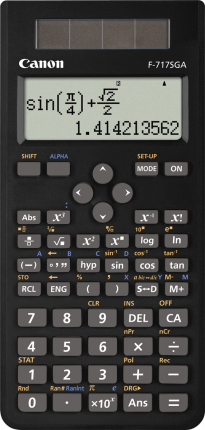 Canon F717SGA Calculator - Black - Out Of Ink