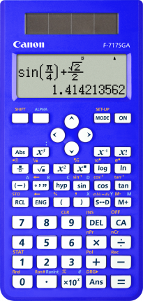 Canon F717SGA Calculator  - Blue - Out Of Ink