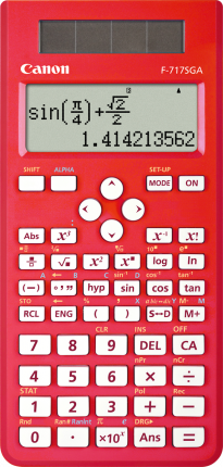Canon F717SGA Calculator  - Red - Out Of Ink
