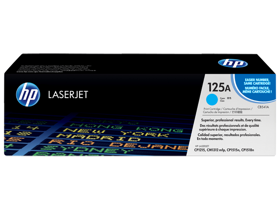 HP CP1215 / CM1312 / CP1515 / CP1518ni Cyan Toner Cartridge - 1,400 pages - Out Of Ink