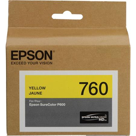 Epson T760 Yellow Ink Cart - Out Of Ink