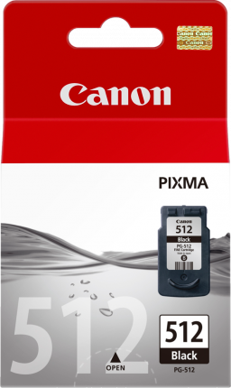 Canon PG-512 Black Ink Cartridge High Yield - 401 pages - Out Of Ink