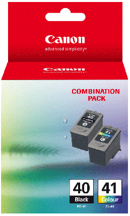 Canon PG-40 / CL-41 Combo Pack - Includes 1 x PG-40 & 1 x CL-41 Ink Cartridges - Out Of Ink