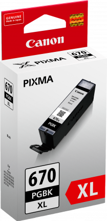 Canon PGI670XL Black Ink Cart - Out Of Ink