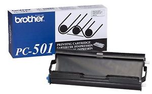 Brother PC-501 Print Cartridge + 1 roll - Out Of Ink