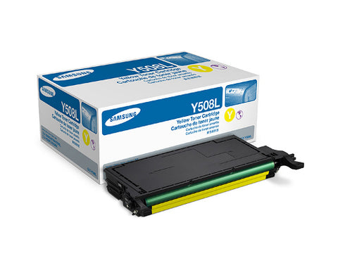 Samsung CLT-Y508L Yellow Toner Cartridge - 4,000 pages @ 5% - Out Of Ink