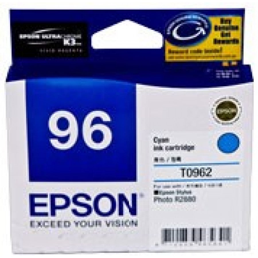 Epson T0962 Cyan Ink Cartridge - 940 pages - Out Of Ink