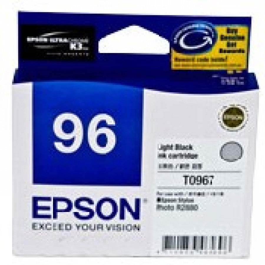 Epson T0967 Light Black Ink Cartridge - 6,210 pages - Out Of Ink