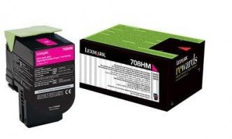 Lexmark 708HM HY Magenta Toner - Out Of Ink