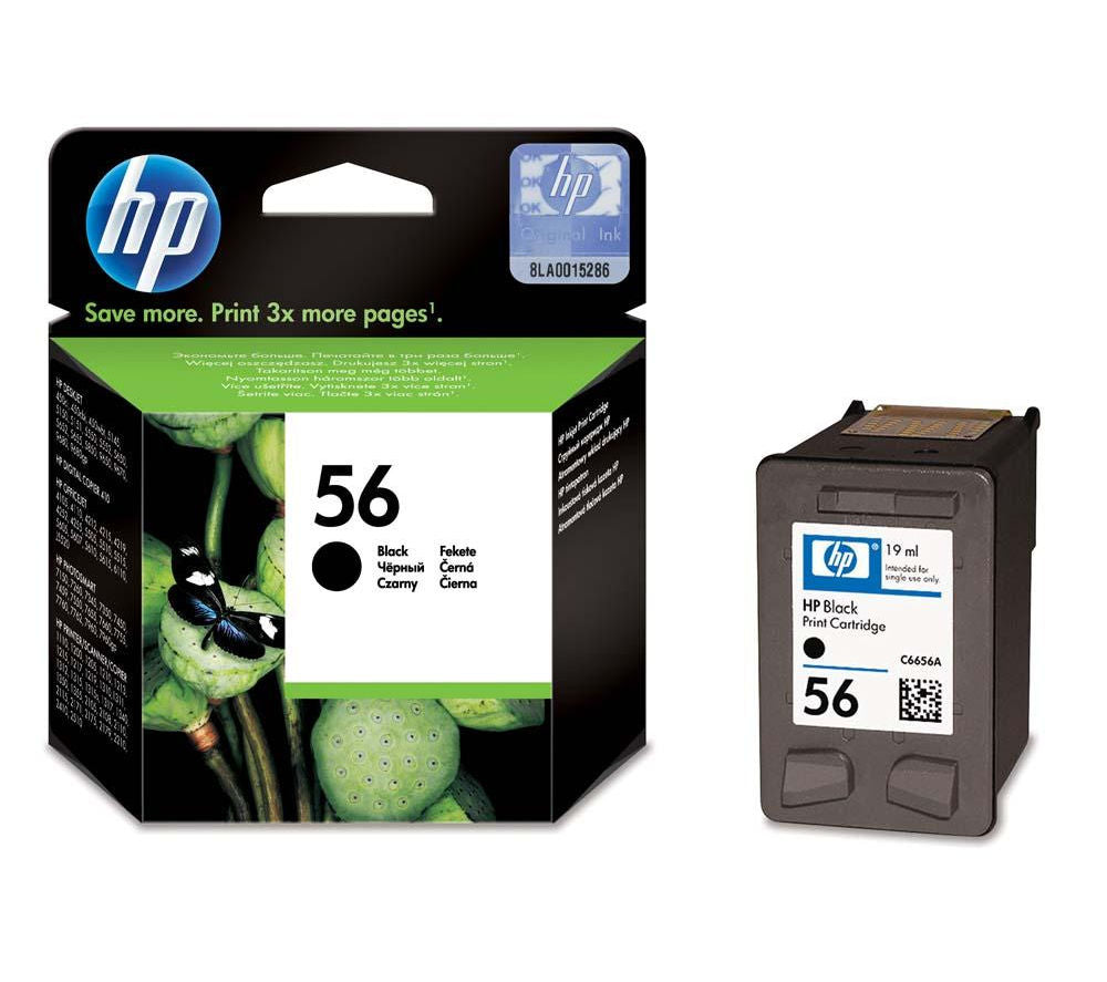 HP No.56 Black Ink Cartridge - 450 pages - Out Of Ink