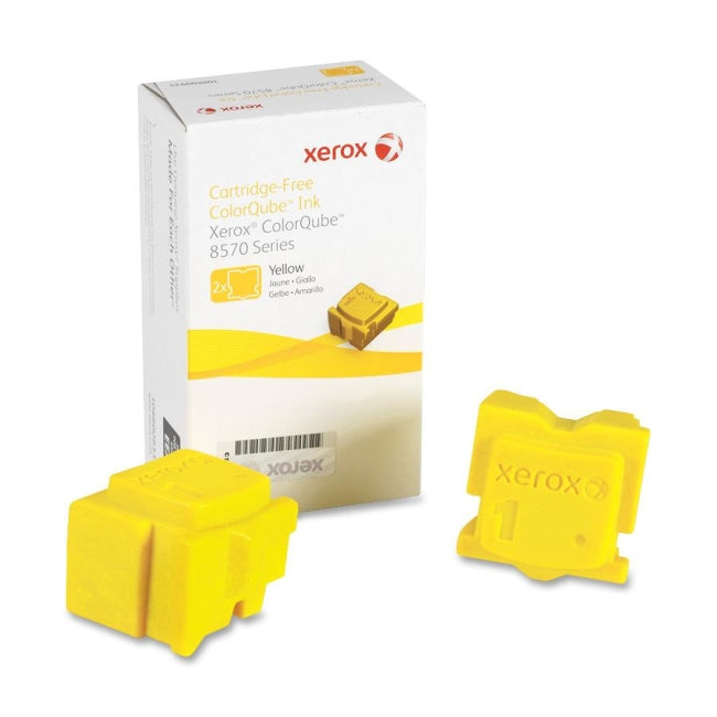 Xerox ColourQube 8570 Yellow Ink Sticks  - 4,400 pages - Out Of Ink