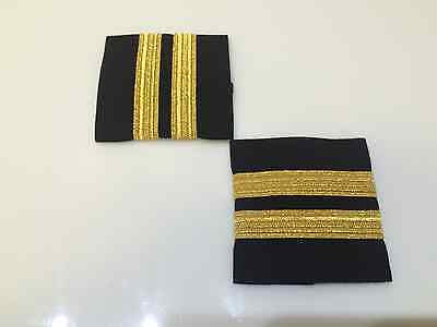 WPS, Epaulets w/ 2, 3 or 4 Stripes on Black Fabric