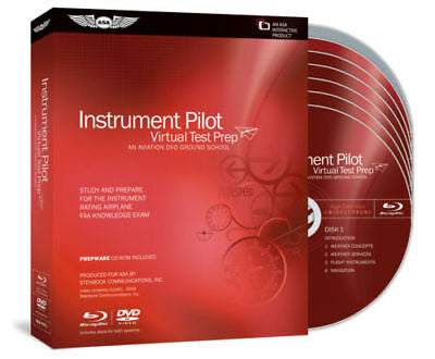 ASA, Virtual Test Prep for Instrument Rating, 4 DVD Course, p/n ASA-VTP-1
