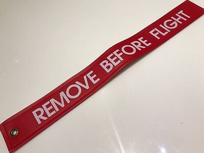"WPS, Heavy Duty Remove Before Flight (RBF) Flag, 17.5"" x 2"""