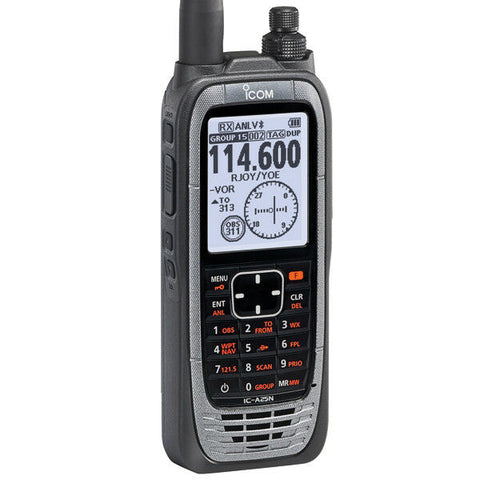 iCom, VHF Air Band Handheld Navigation Transceiver w/ GPS, Bluetooth, model IC-A25N