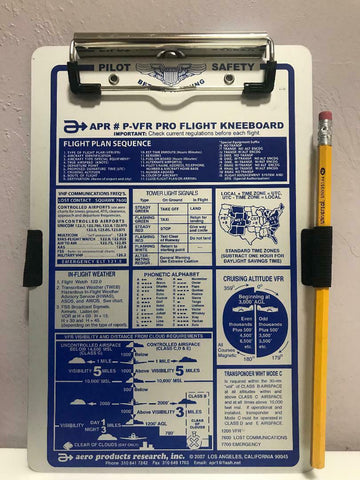 APR, Deluxe VFR Pro Flight Kneeboard, p/n P-VFR