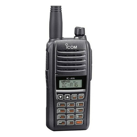 iCom, VHF Air Band Handheld Transceiver, Communication Only, model IC-A16