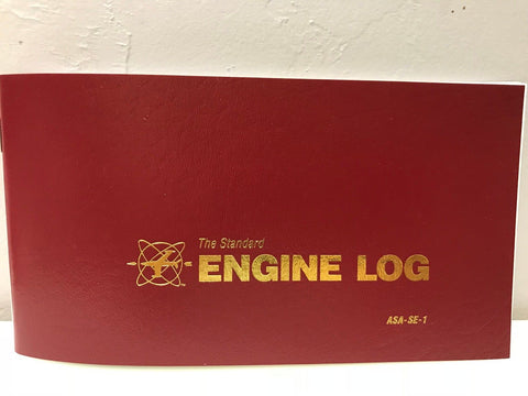 ASA, Aircraft Engine Logbook, Softcover (Burgundy) p/n ASA-SE-1