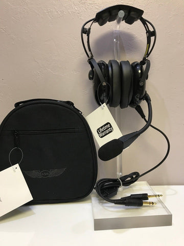 ASA, Air Classics G/A Headset p/n HS-1A & Headset Carrying Bag