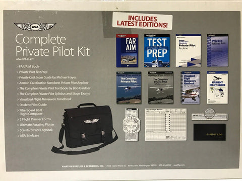 ASA, Complete Private Pilot Kit, Part 61, 2019 Edition, p/n ASA-PVT-61-KIT