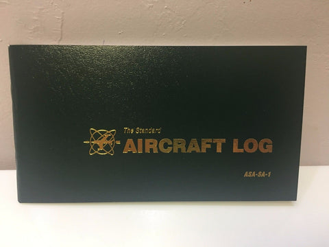 ASA, Aircraft Logbook, Green Softcover P/N ASA-SA-1