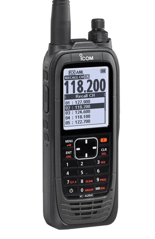 iCom, VHF Air Band Handheld Communication Transceiver, model IC-A25C