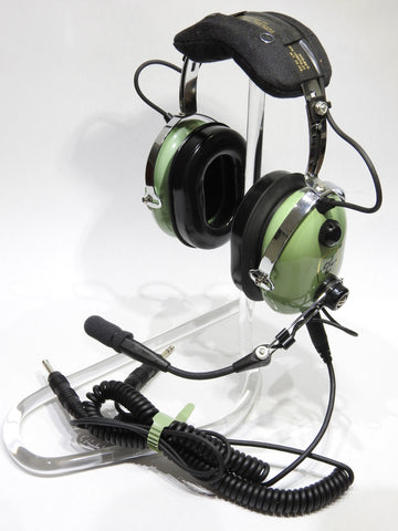 David Clark, H10-60C Headset  p/n 40128G-01 w/ Dual Coiled G/A Connectors