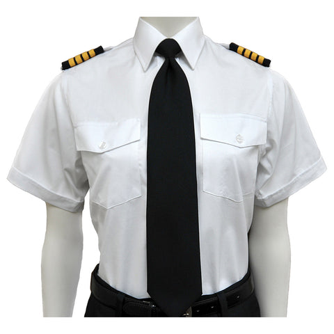 AeroPhoenix, Women's, Elite, Short Sleeve Pilot & Crew Members Shirts, all White