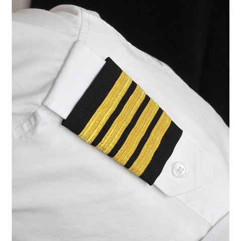 AeroPhoenix, Epaulets w/ 2, 3 or 4 Stripes on Black or Navy Fabric