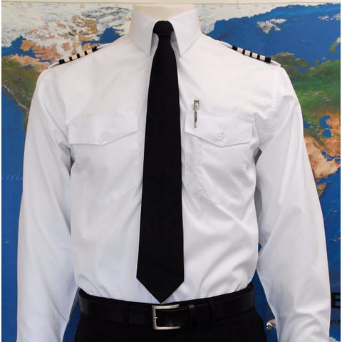 AeroPhoenix, Men's, Elite, Long Sleeve Pilot & Crew Members Shirts, all White