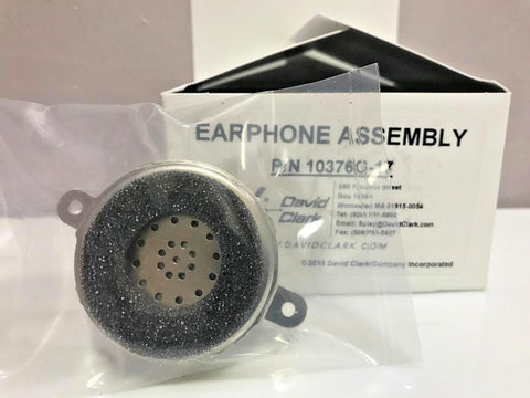 David Clark, Replacement Earphone Assembly (Speaker), fits many Headsets, p/n 10376G-17