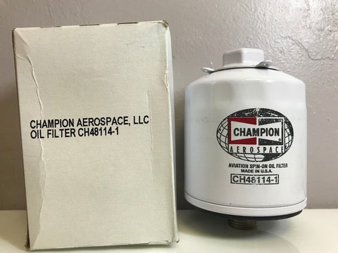 Champion, Aircraft Oil Filter p/n CH48114-1 w/ Certification