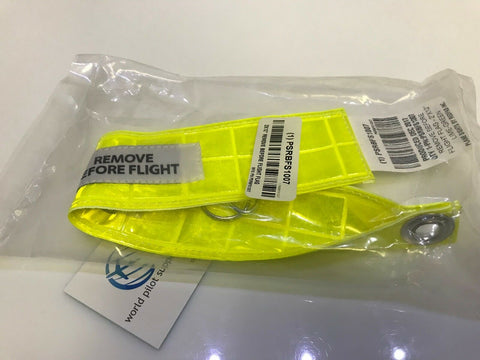 Plane Sights, High Visibility & Reflective, Remove Before Flight (RBF) Streamer, p/n PSRBFS1007