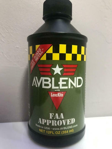 Avblend, Oil Additive w/ LencKite, 12 Oz Bottle,  FAA Approved, w/ Certs
