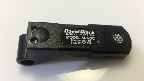 David Clark, Model M-7/DC Microphone,  p/n 09168P-31