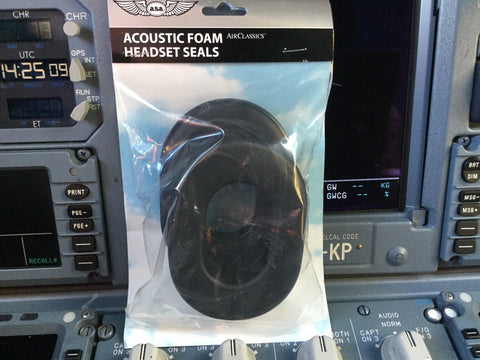 ASA, Acoustic Foam Ear Seals for the Air Classics HS-1A Headset, 1 Pair