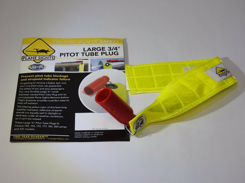 "Plane Sights, Pitot Tube Cover, Large 3/4"" w/ High Viz Reflective Streamer,  p/n PS34PTP0508"